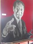 ini gambarnya Pak Ciputra, pendiri Mall Ciputra, ini adalah gamra orang dengan menggunakan PAKU terbanyak!